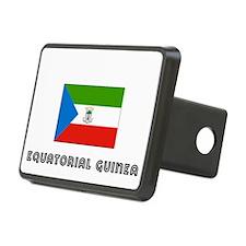 I HEART EQUATORIAL GUINEA FLAG Hitch Cover