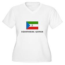 I HEART EQUATORIAL GUINEA FLAG Plus Size T-Shirt