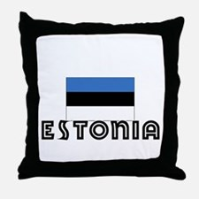 I HEART ESTONIA FLAG Throw Pillow