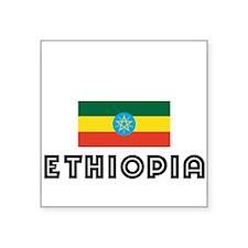 I HEART ETHIOPIA FLAG Sticker