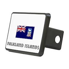 I HEART FALKLAND ISLANDS FLAG Hitch Cover