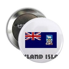 "I HEART FALKLAND ISLANDS FLAG 2.25"" Button"