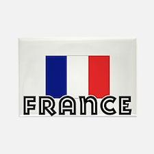 I HEART FRANCE FLAG Rectangle Magnet