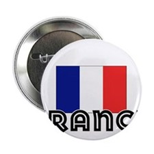 "I HEART FRANCE FLAG 2.25"" Button"