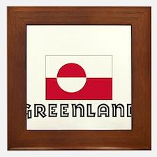 I HEART GREENLAND FLAG Framed Tile