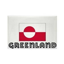 I HEART GREENLAND FLAG Rectangle Magnet