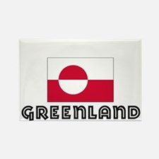 I HEART GREENLAND FLAG Rectangle Magnet