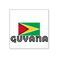 I HEART GUYANA FLAG Sticker