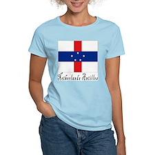 Netherlands Antilles Women's Pink T-Shirt