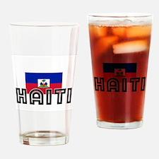 I HEART HAITI FLAG Drinking Glass