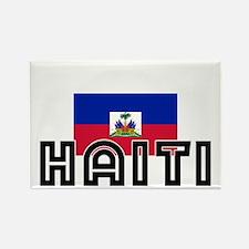 I HEART HAITI FLAG Rectangle Magnet