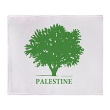 Palestine olive tree Throw Blanket