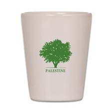Palestine olive tree Shot Glass
