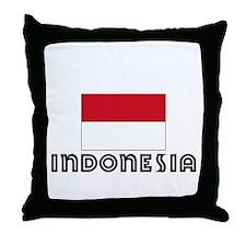 I HEART INDONESIA FLAG Throw Pillow