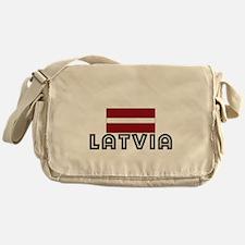 I HEART LATVIA FLAG Messenger Bag