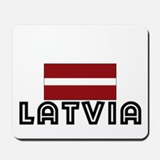 I HEART LATVIA FLAG Mousepad