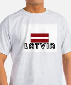 I HEART LATVIA FLAG T-Shirt