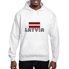 I HEART LATVIA FLAG Hoodie