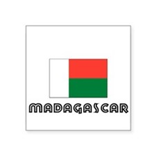 I HEART MADAGASCAR FLAG Sticker
