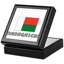 I HEART MADAGASCAR FLAG Keepsake Box