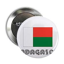 "I HEART MADAGASCAR FLAG 2.25"" Button"