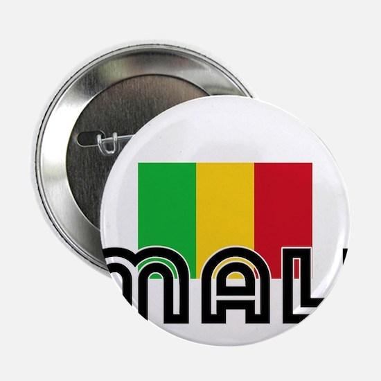 "I HEART MALI FLAG 2.25"" Button"