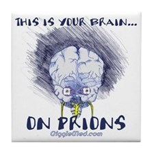 Brain on Prions Tile Coaster