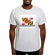 I HEART MARYLAND FLAG T-Shirt