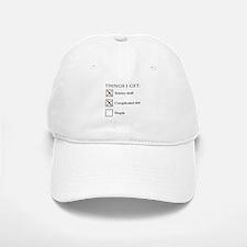 ThingsIGet1_black_print_no_bgr Baseball Baseball Cap