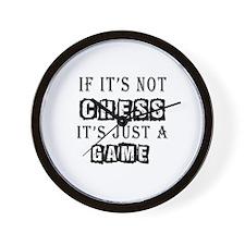 Chess Designs Wall Clock