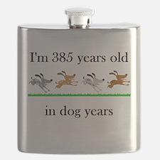 55 dog years birthday 1 Flask