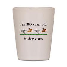 55 dog years birthday 1 Shot Glass