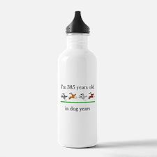 55 dog years birthday 1 Water Bottle
