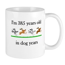 55 dog years birthday 1 Mug
