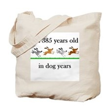 55 dog years birthday 1 Tote Bag