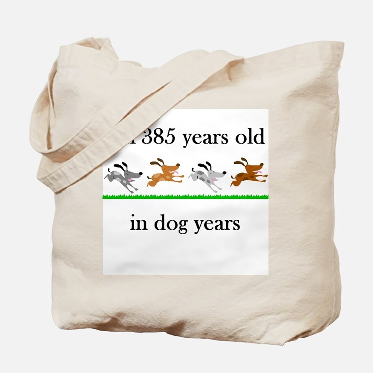 55 dog years birthday 1 Tote Bag
