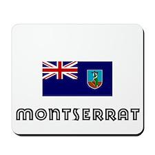 I HEART MONTSERRAT FLAG Mousepad