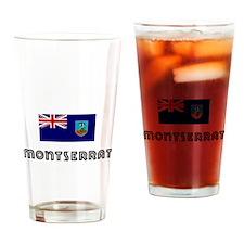 I HEART MONTSERRAT FLAG Drinking Glass