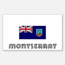 I HEART MONTSERRAT FLAG Decal