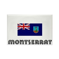 I HEART MONTSERRAT FLAG Rectangle Magnet