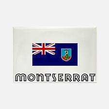 I HEART MONTSERRAT FLAG Rectangle Magnet