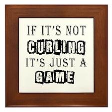 Curling Designs Framed Tile