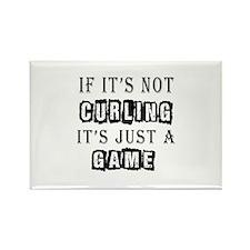 Curling Designs Rectangle Magnet