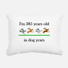 55 dog years birthday 1 Rectangular Canvas Pillow