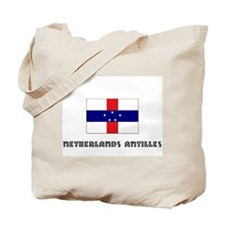 I HEART NETHERLANDS ANTILLES FLAG Tote Bag