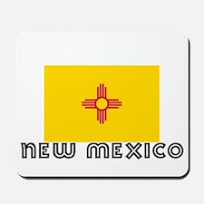 I HEART NEW MEXICO FLAG Mousepad