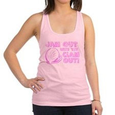clamout.gif Racerback Tank Top