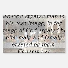 Genesis 1:27 Decal
