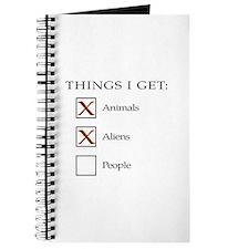 Things I get - aliens, not people Journal