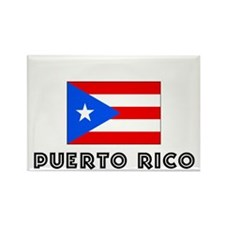 I HEART PUERTO RICO FLAG Rectangle Magnet